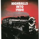 Vintage Lionel Highballs Into 1984 Trains Brochure Not PDF Free Shipping Offer