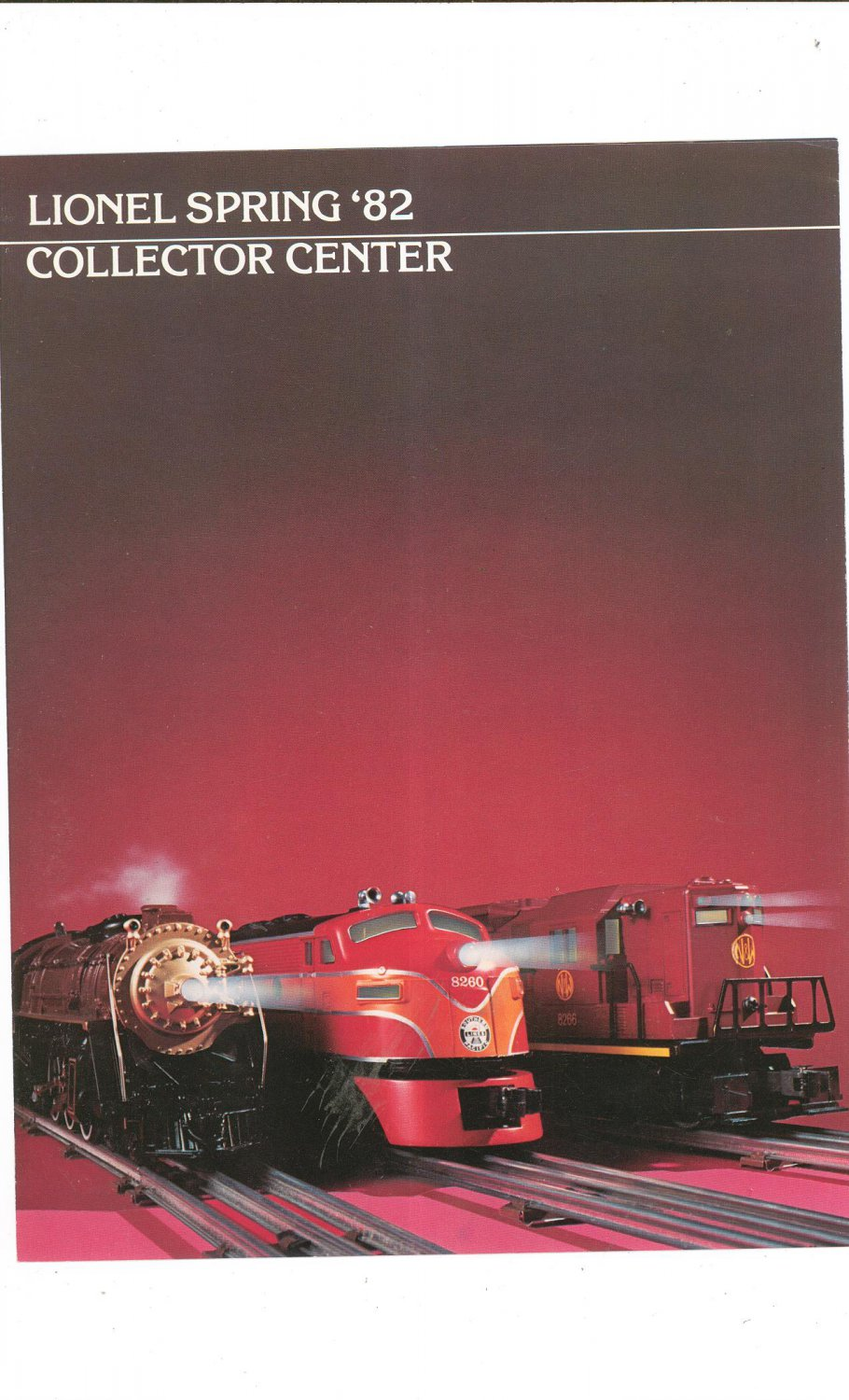 Vintage Lionel 1982 Spring Collector Center Trains Brochure Not PDF Free Shipping Offer