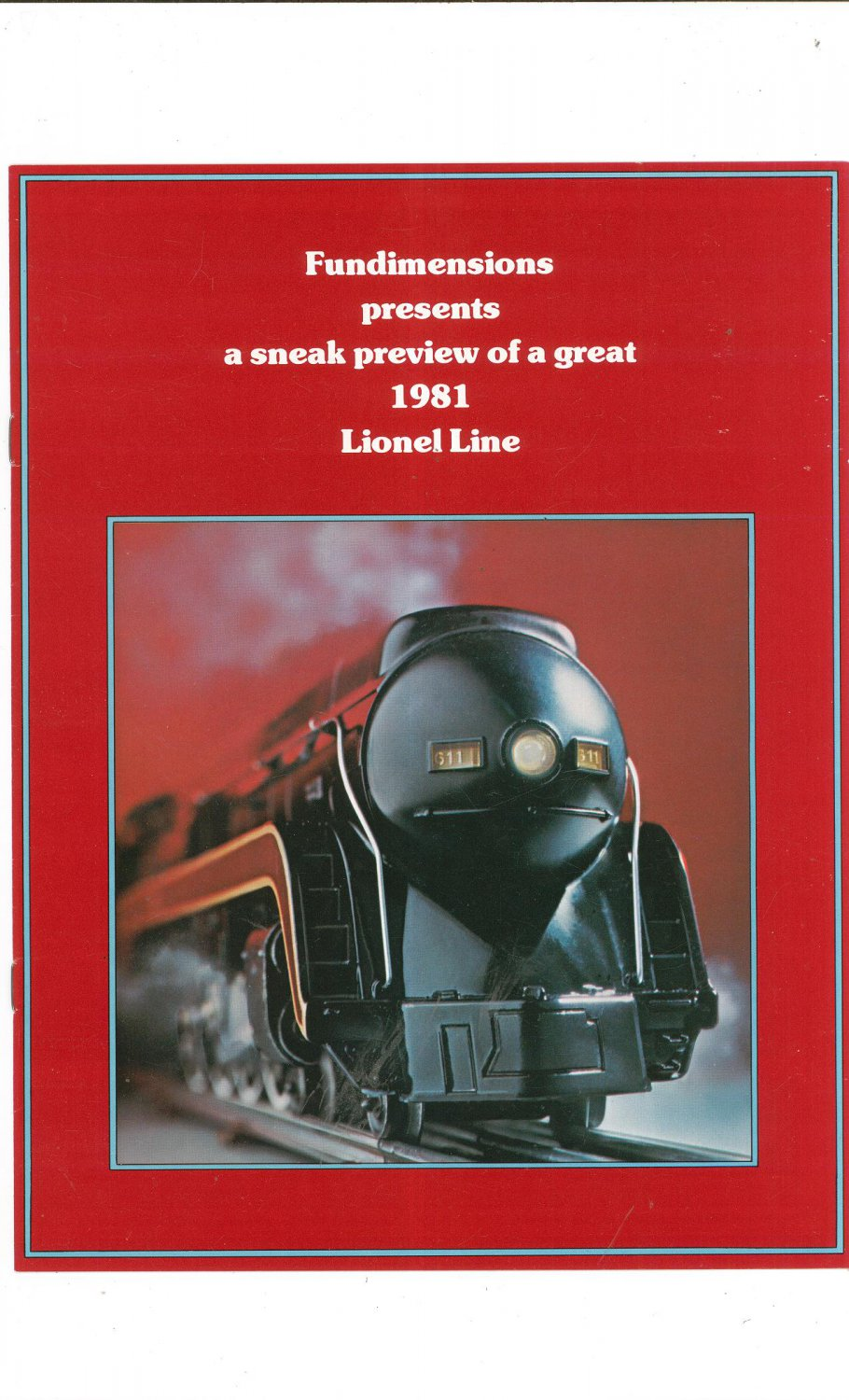 Vintag Sneak Preview Great 1981 Lionel Line Trains Brochure Not PDF Free Shipping Offer