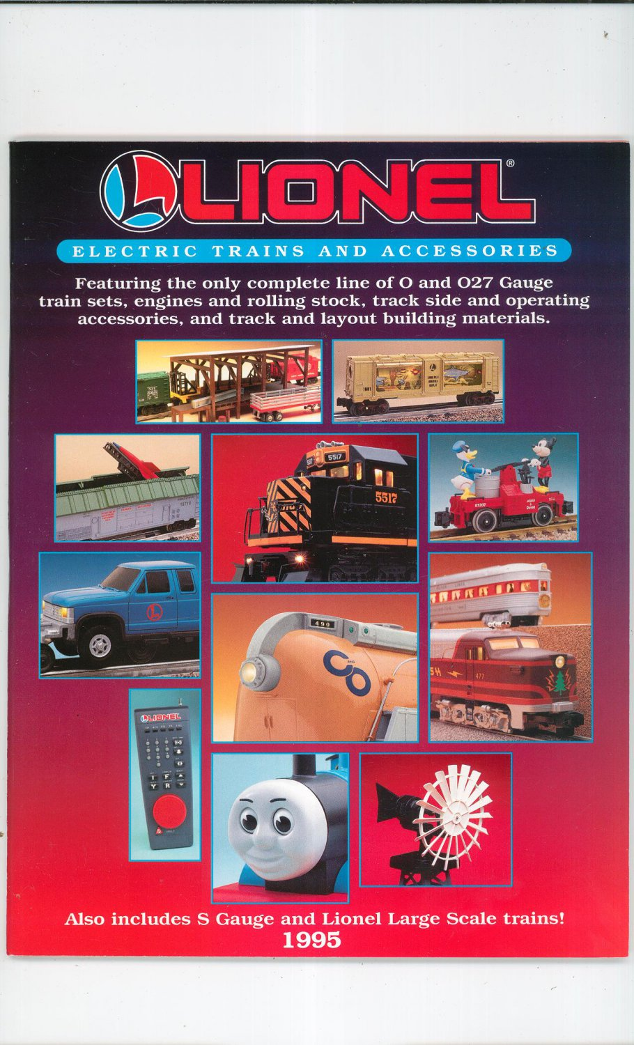 Lionel Electric Trains And Accessories Catalog 1995 Not PDF Free Shipping Offer