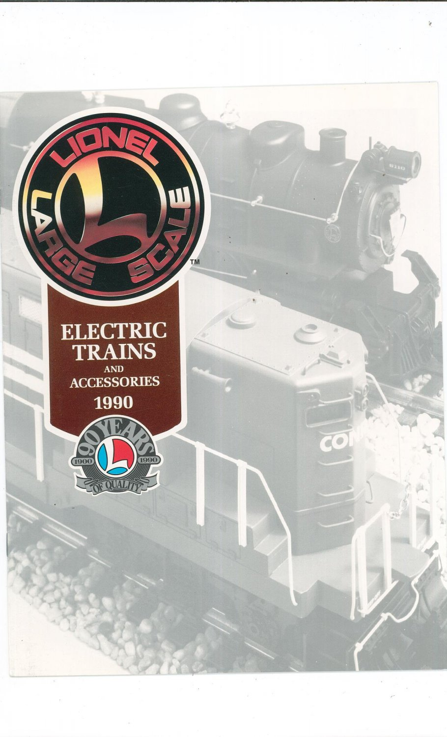 Lionel Large Scale Electric Trains & Accessories Catalog 1990 Not PDF Free Shipping Offer