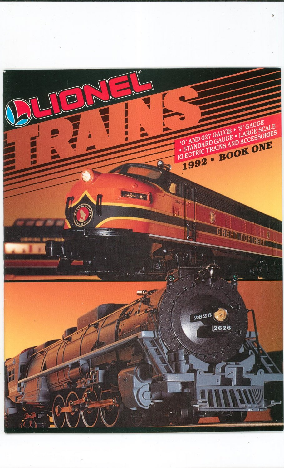 Lionel Electric Trains & Accessorie Catalog One 1992 Not PDF Free Shipping Offer