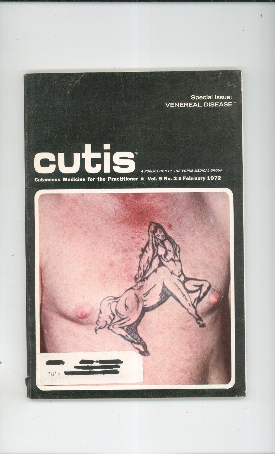 February 1972 Cutis Cutaneous Medicine For The Practitioner Magazine Vintage Venereal Disease