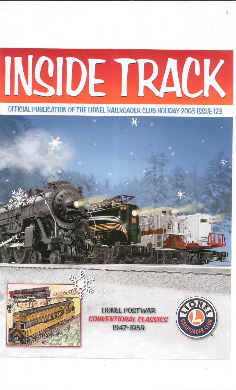 Lionel Railroader Club Inside Track Holiday 2008 Issue 123 Not PDF Train