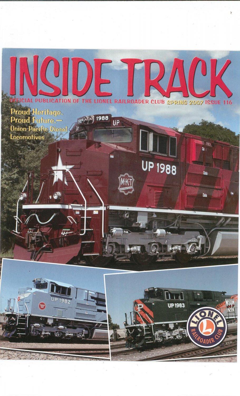 Lionel Railroader Club Inside Track Spring 2007 Issue 116 Not PDF Train