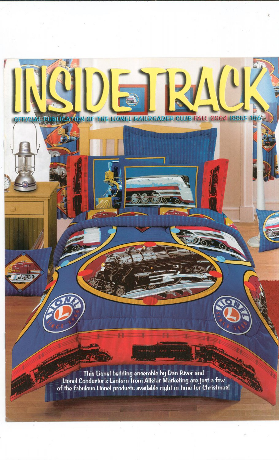 Lionel Railroader Club Inside Track Fall 2004 Issue 106 Not PDF Train