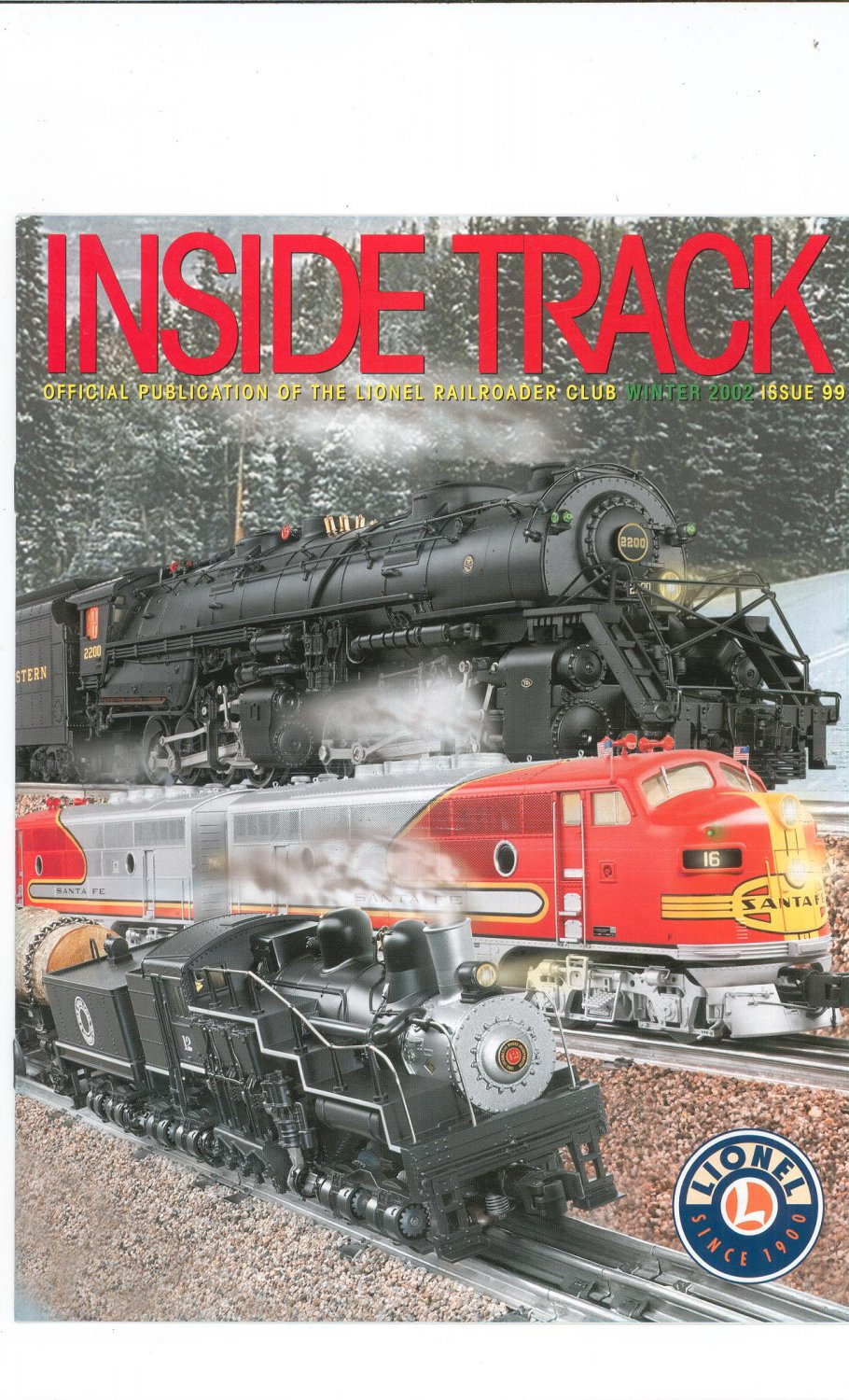 Lionel Railroader Club Inside Track Winter 2002 Issue 99 Not PDF Train Free Shipping Offer
