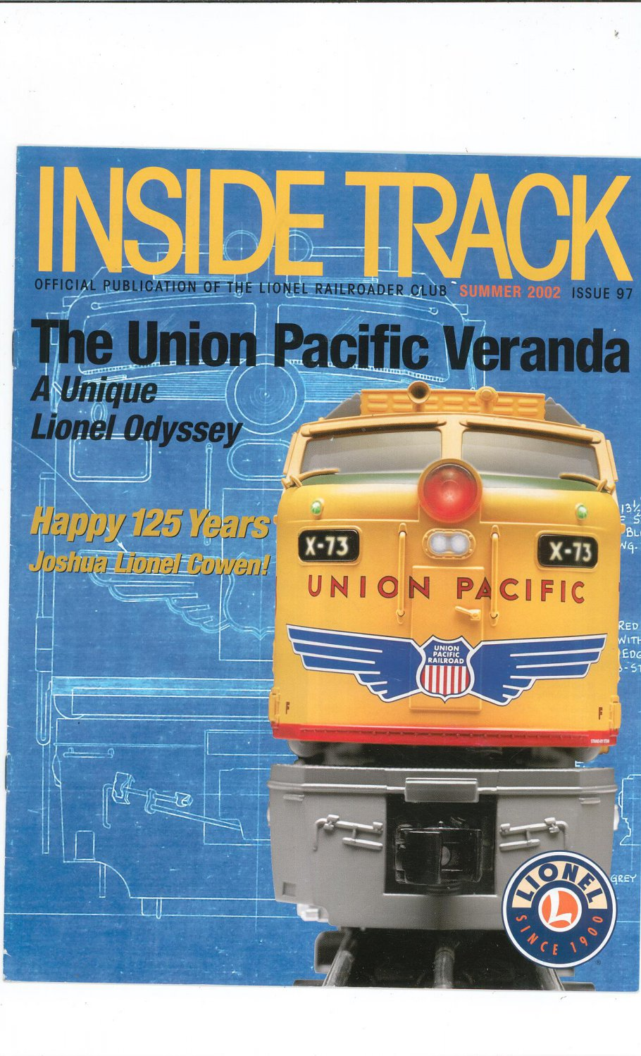 Lionel Railroader Club Inside Track Summer 2002 Issue 97 Not PDF Train Free Shipping Offer