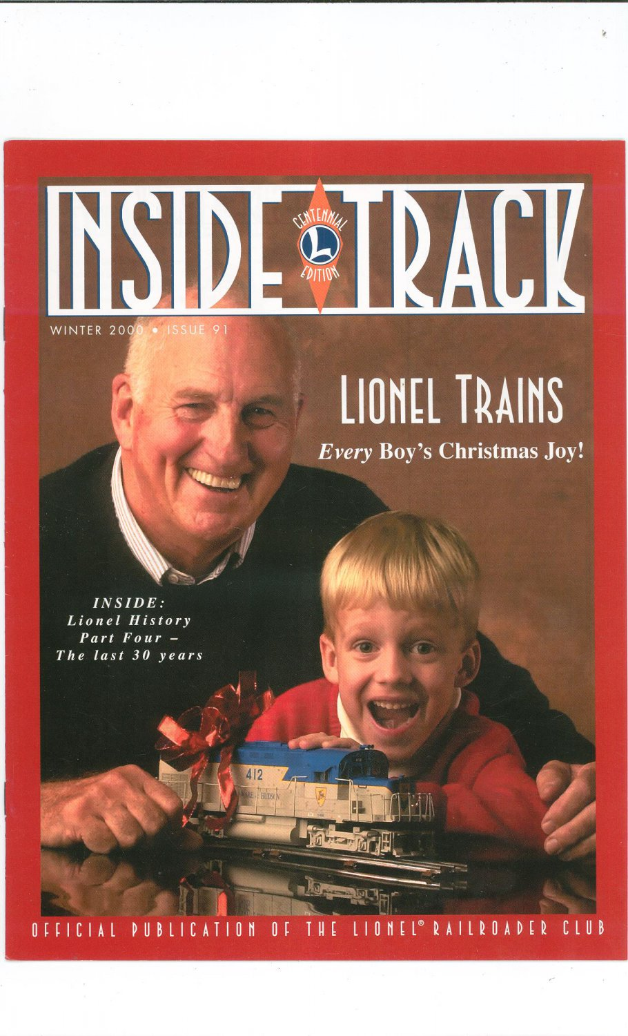 Lionel Railroader Club Inside Track Winter 2000 Issue 91 Not PDF Train Free Shipping Offer