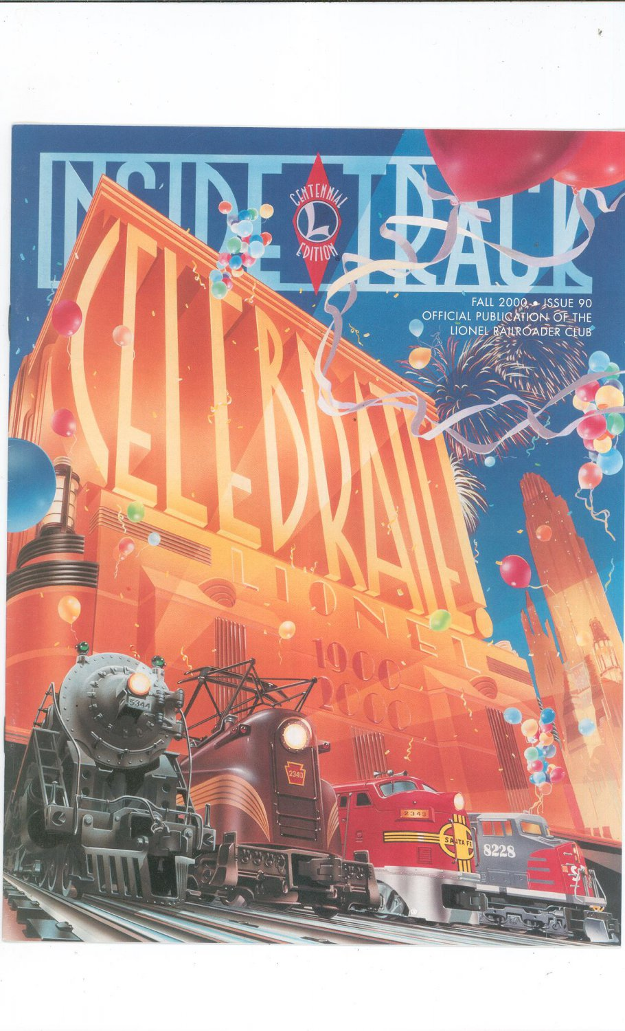 Lionel Railroader Club Inside Track Fall 2000 Issue 90 Not PDF Train Free Shipping Offer