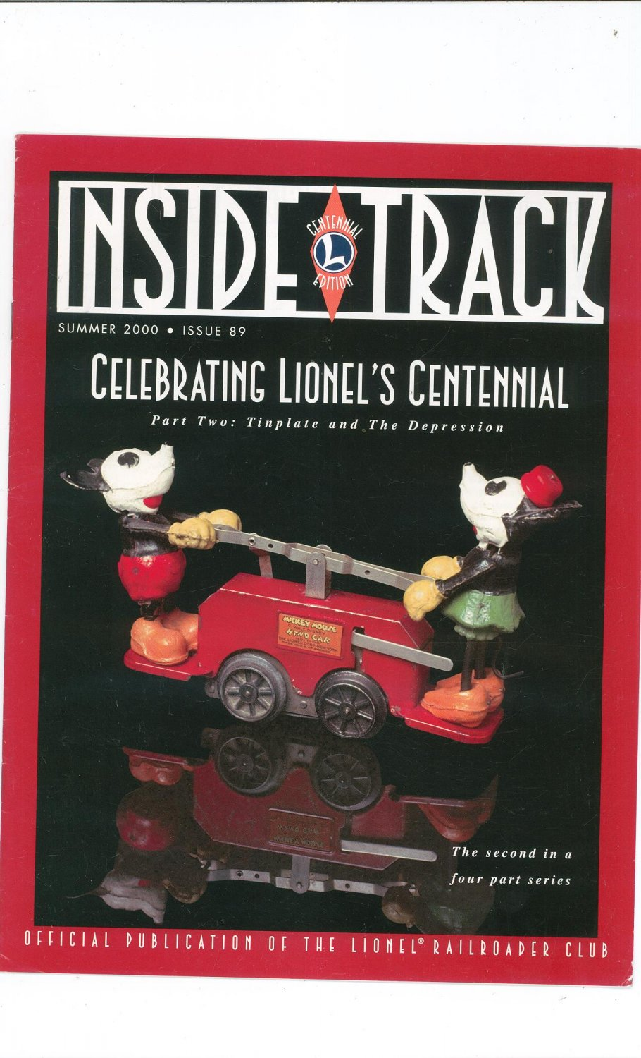 Lionel Railroader Club Inside Track Summer 2000 Issue 89 Not PDF Train Free Shipping Offer
