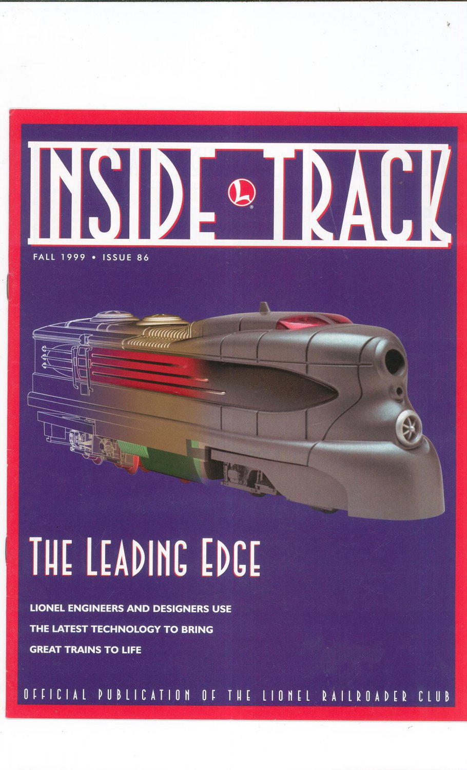 Lionel Railroader Club Inside Track Fall 1999 Issue 86 Not PDF Train Free Shipping Offer