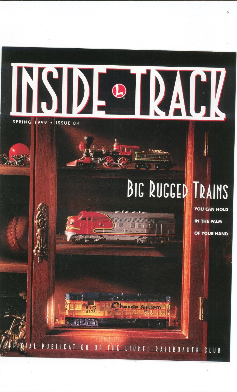 Lionel Railroader Club Inside Track Spring 1999 Issue 84 Not PDF Train Free Shipping Offer