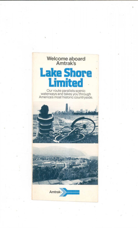 Vintage Welcome Aboard Amtrak's Lake Shore Limited Brochure 1976