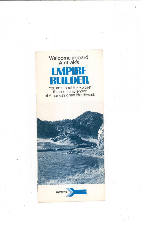 Vintage Welcome Aboard Amtrak's Empire Builder Brochure 1976