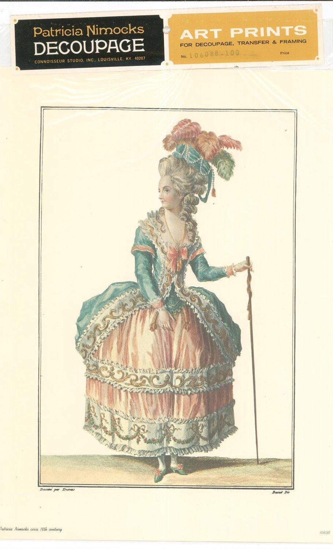 Patricia Nimocks Decoupage Art Print 18th Century Woman 106088 100