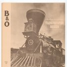 Vintage Baltimore And Ohio Transportation Museum B&O Train Souvenir Book Railroad