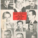 Vintage Barber's Journal & Men's Hairstylist Magazine Ten Best Groomed Men Of Year With Banner 1963