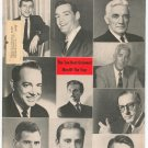 Vintage Barber's Journal & Men's Hairstylist Magazine Ten Best Groomed Men Of Year With Banner 1964