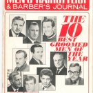 Vintage Barber's Journal & Men's Hairstylist Magazine Ten Best Groomed Men Of Year 1967