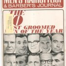 Vintage Men's Hairstylist & Barber's Journal Magazine Ten Best Groomed Men Of Year 1966
