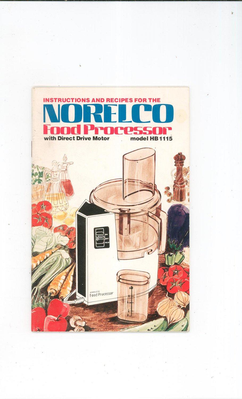 Norelco Food Processor Model Hb