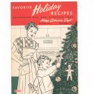 Favorite Holiday Recipes Cookbook Regional New York Rochester Gas & Electric RGE Christmas 1950