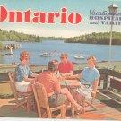 Vintage Ontario Canada Vacationland Of Hospitality And Variety Travel Guide John Robarts