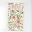 Lot Of 2 Bridge Contract Score Pads Isabelle's Garden & Colonial Williamsburg