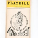 42nd Street Majestic Theatre Playbill Souvenir  1981