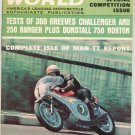 Vintage Cycle World Magazine September 1967 Special Competition Issue Not PDF