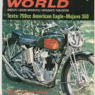 Vintage Cycle World Magazine August 1968 American Eagle Mojave  Not PDF