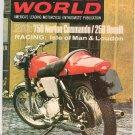 Vintage Cycle World Magazine September 1968 Norton Benelli  Not PDF