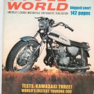 Vintage Cycle World Magazine April 1969 Honda 350 Kawasaki Three  Not PDF