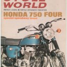 Vintage Cycle World Magazine January 1969 Honda 750 Four Speedway Issue  Not PDF