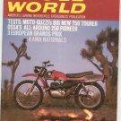 Vintage Cycle World Magazine October 1969 Guzzis 750 Tourer Ossa's 250 Pioneer  Not PDF