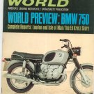 Vintage Cycle World Magazine September 1969 Preview BMW 750   Not PDF