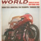 Vintage Cycle World Magazine June 1969 Dunstall 750 Daytona Report 1969 R Not PDF