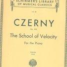 Czerny The School Of Velocity Opus 299 Piano Complete Volume 161 Schirmer