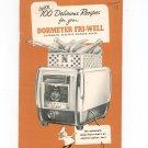 Vintage 100 Delicious Recipes For Dormeyer Fri-Well Cooking Cookbook Deep Fryer