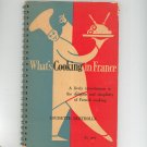 What's Cooking In France Cookbook Louisette Bertholle Vintage Macgibbon & Kee 1955