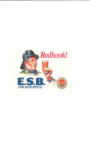 Redhook E S B  Postcard Advertising Extra Special Bitter Ale
