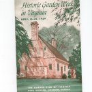 Historic Garden Week In Virginia 1959 Program Garden Club Of Virginia Not PDF