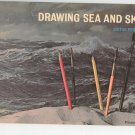 Drawing Sea And Sky by Victor Perard Pitman 17 Vintage 1957
