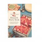 Vintage Bisquick Party Book Betty Crocker's 1957