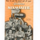 Sunbeam Mixmaster Model 7B Owners Manual & Cookbook Vintage