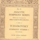 Tchaikovsky Symphony Number 5 E Minor Ditson No. 30 Vintage 1931