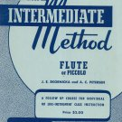 Rubank Intermediate Method Flute Or Piccolo With Boehm Chart Vintage