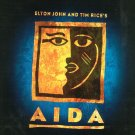 Aida Elton John Tim Rice Souvenir Program Brochure With The Cast Insert