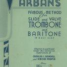 Complete Araban's Famous Method For Slide & Valve Trombones Vintage Randall Mantia